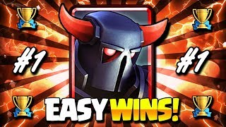 THE #1 BEST TROPHY PUSHING DECK IN CLASH ROYALE!!