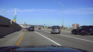 Dashcam: Cruiser hits murder suspect on US-131