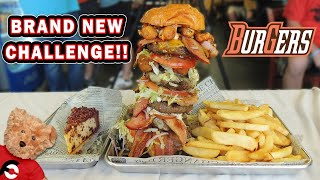 Monster 5Burger Challenge w/ Cheesecake in Bowling Green, Ohio!!