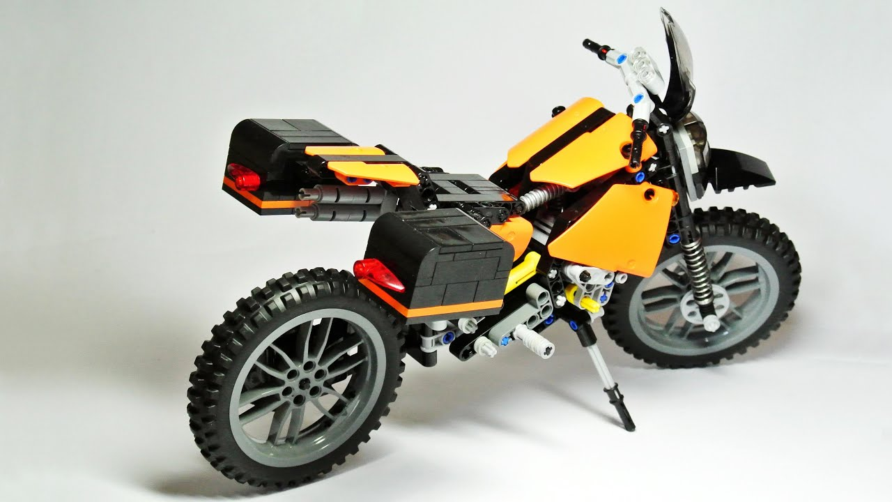 travel enduro motorcycle lego technic youtube. Black Bedroom Furniture Sets. Home Design Ideas
