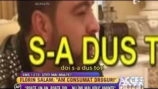"""Florin Salam: """"Intr-un an si jumatate am dat sute de mii de euro pe droguri si la casinouri"""""""