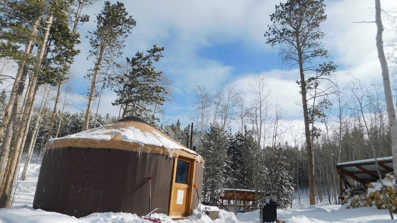 Winter Camping In A Yurt In Utah - YouTube