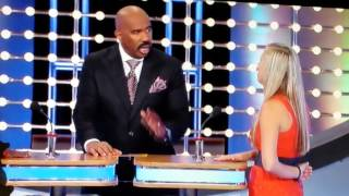 Family Feud Ask 100 men name a part of your body that gets sweaty?? funny blooper