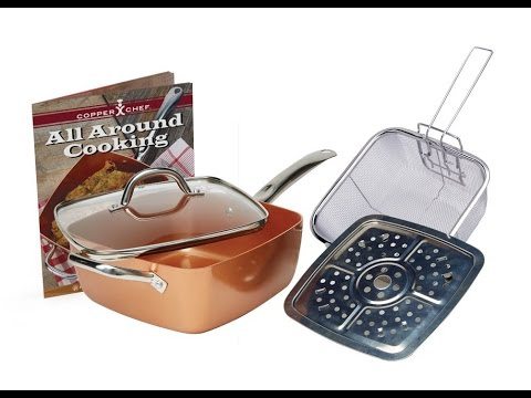 Review Copper Chef 4 Pc System 6 In 1 Pan Youtube