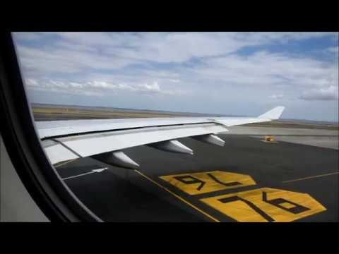 Qantas Airbus A330 Takeoff From Auckland