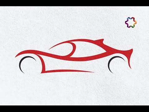 sport car logo design tutorial in adobe illustrator   how to make car shape in illustrator cc