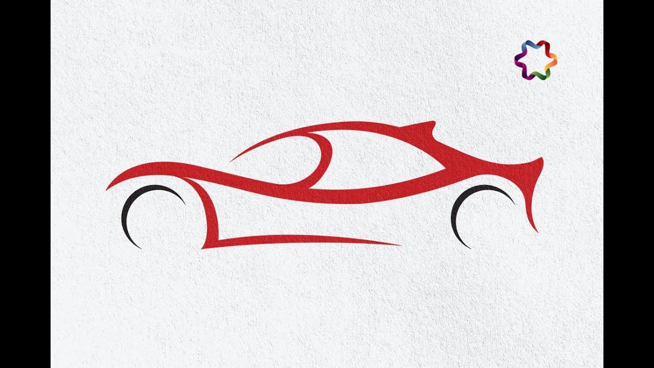 sport car logo design tutorial in adobe illustrator | how to make ...