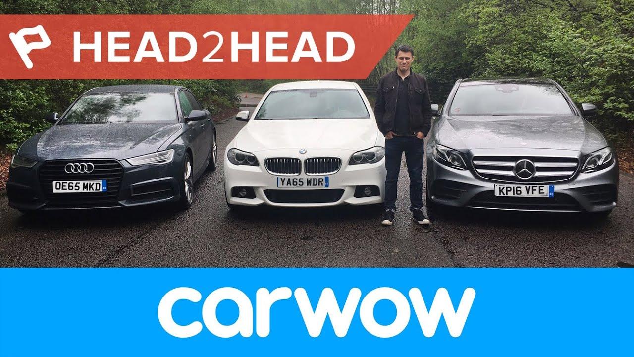 Merc EClass vs BMW 5 Series vs Audi A6 comparison  carwow