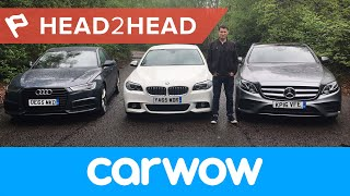 mercedes e class vs bmw 5 series vs audi a6 saloon 2017 review   head2head