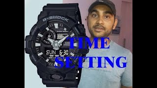 how to adjust time or Time setting  G shock  hindi version