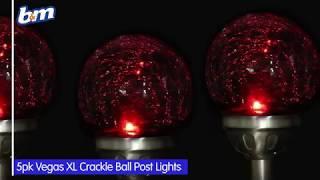 Vegas XL Crackle Ball Post Lights - Chrome | B&M Stores