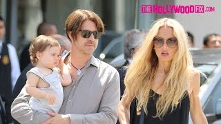 Rachel Zoe Attends John Varvatos Charity Auction With Family 4.26.15 - TheHollywoodFix.com