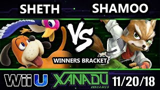 S@X 277 Smash 4 -  Shamoo (Fox) Vs.  SHETH (Duck Hunt) Wii U Winners Bracket