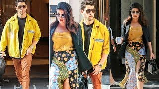 Priyanka Chopra and Nick Jonas twinning in yellow and looking so amazing together 😍 |NickYanka
