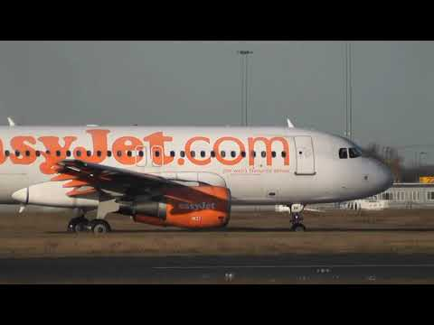 DONCASTER AIRPORT (UK) EASYJET CIRCUIT TRAINING. A319 G-EZIH