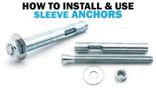 How to Install Concrete Masonry Sleeve Anchors   Fasteners 101