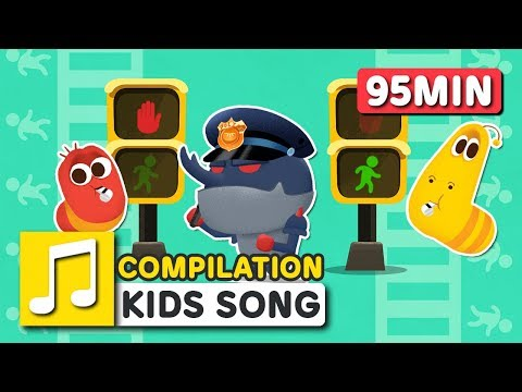ROAD SAFETY SONG COMPILATION | LARVA KIDS | BEST SONGS FOR KIDS | BE SAFE EVERYONE