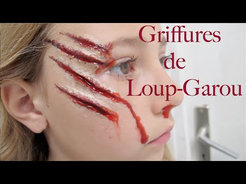 maquillage griffures loupgarou youtube