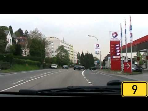 Driving from Koblenz to Bonn, Germany [HD720p]