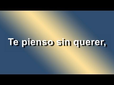 Te Pienso Sin Querer - Franco de vita Feat. Gloria Trevi - Letra - HD