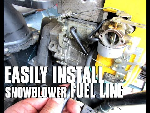 HOW-TO Easily Install Fuel Line On Your Snowblower With A Tecumseh Engine