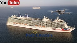 Amazing Fottage of 7 P&O cruise ships in Weymouth Bay Dorset.