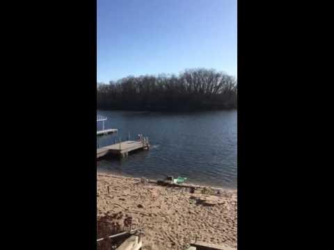 Swimming in Nebraska in February full length
