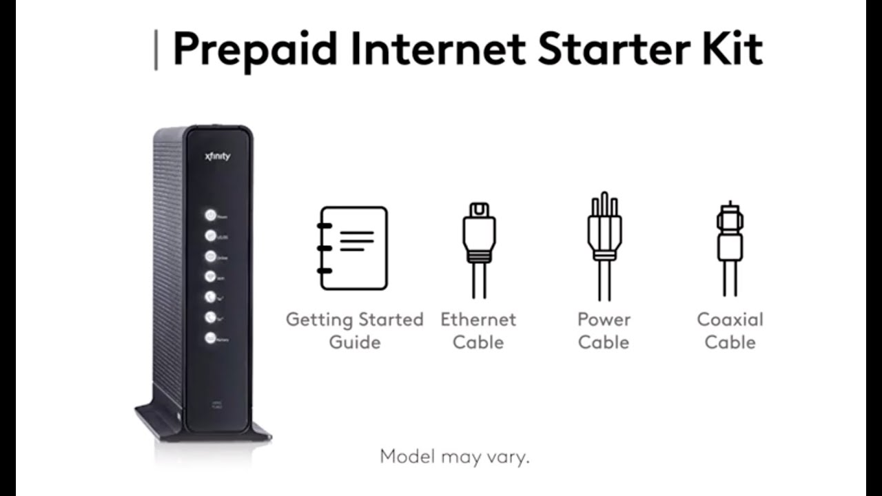 Setting Up Your Xfinity Prepaid Internet Service Using the ...
