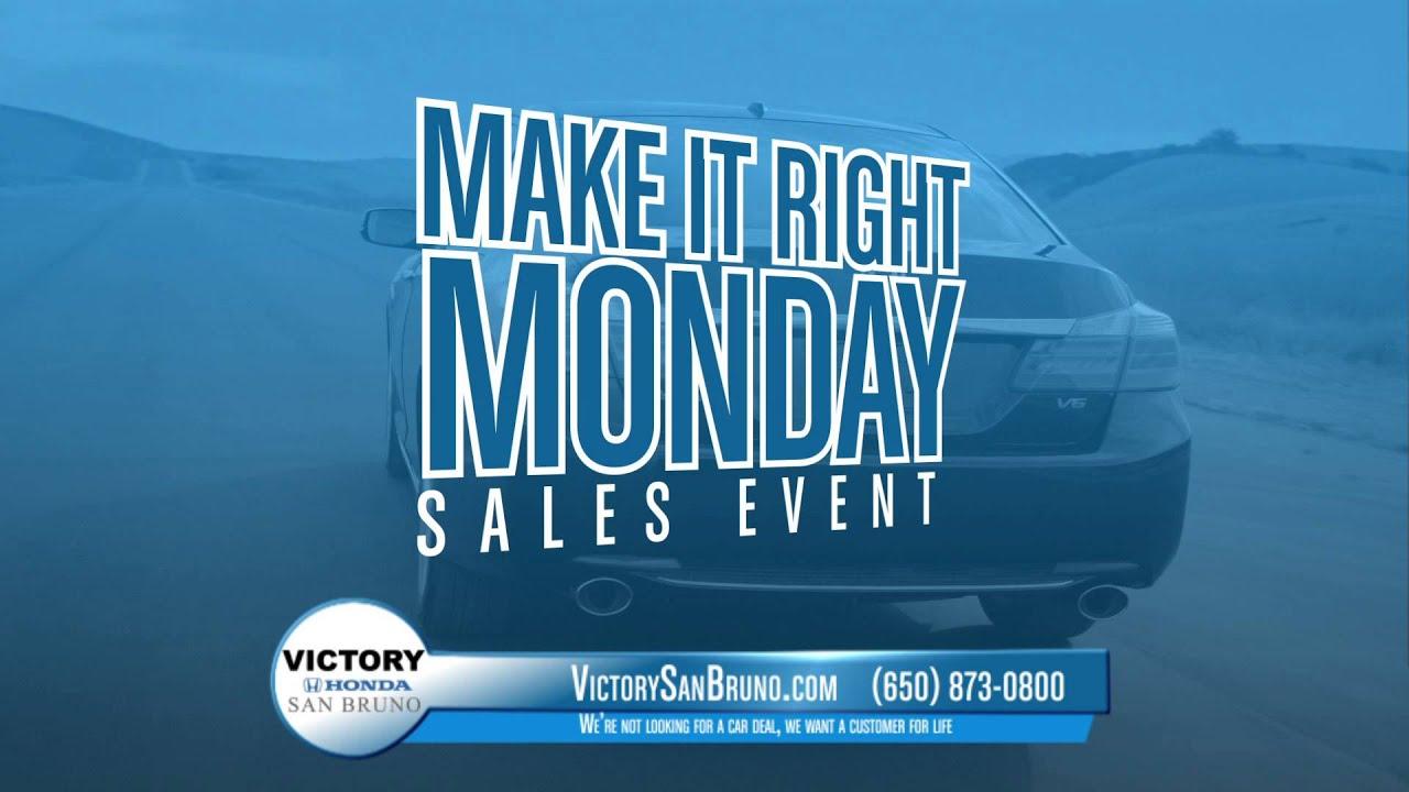 Victory Honda Of San Bruno Make It Right Monday