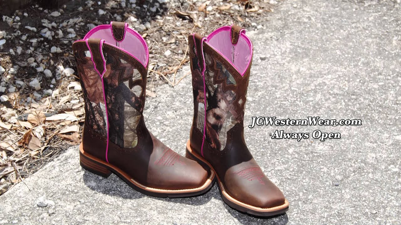 1789b212a68c8 Ariat Heritage Boots Ariat Camo Square Toe Boots JCwesternwear.com – YouTube