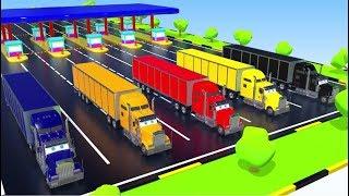 ✅ Учим цвета  //  Разноцветные грузовики и спец техника // Обучающие мультики для детей