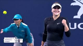 Tennis Channel Live: Bianca Andreescu Battles Past Angelique Kerber 2019 Miami Open thumbnail