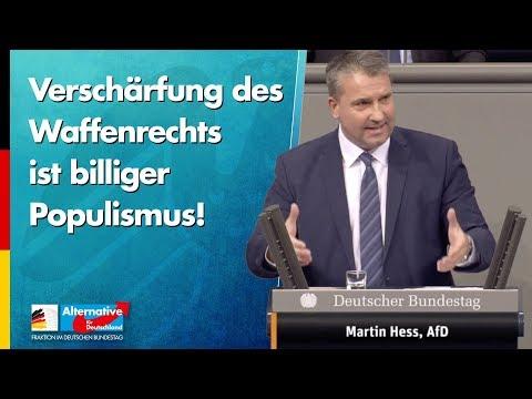 Verschärfung des Waffenrechts ist billiger Populismus! - Martin Hess