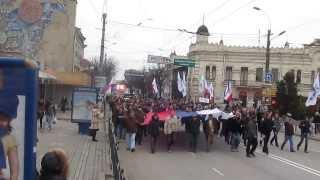 Симферополь шествие 1 марта на пр. Кирова(, 2014-03-04T22:52:09.000Z)