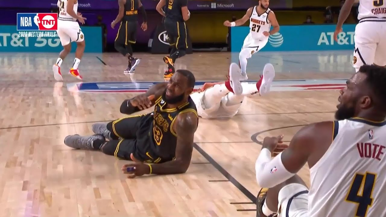 LeBron James has the first 12 points for the Lakers! Game 2 vs Nuggets