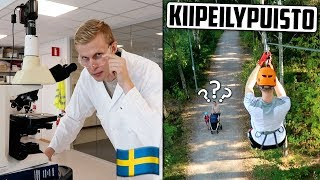 Päivä Ruotsissa ja ensimmäistä kertaa KIIPEILYPUISTOSSA!