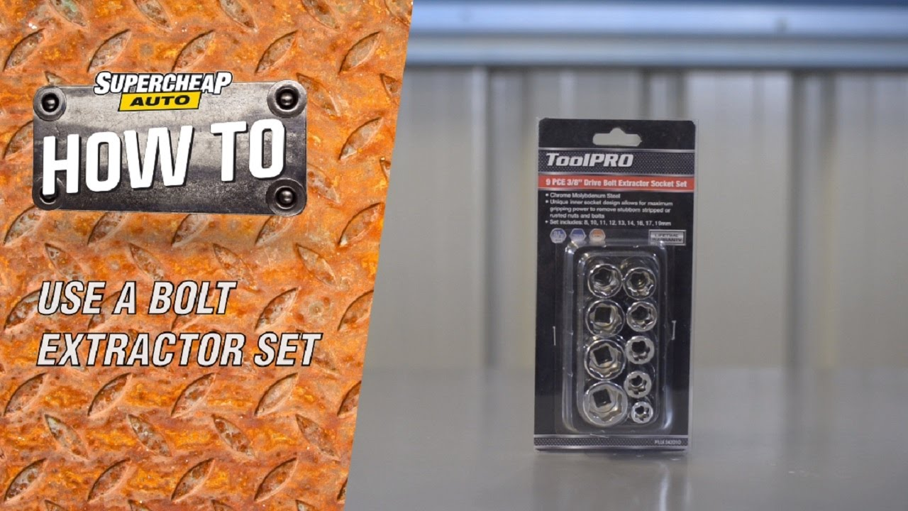 Removing a Rounded Nut or Bolt // ToolPRO Bolt Extractor Set