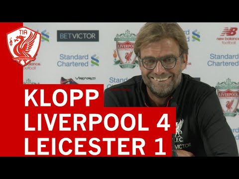 Liverpool 4-1 Leicester City: Jurgen Klopp's post-match press conference