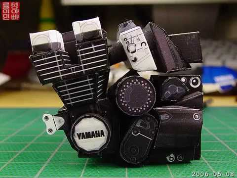 Papercraft Look! It's Paper - paper model of YAMAHA XJR-1300