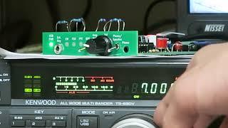試作機の動作確認 無線機のフィルタは2.4kHz http://www.jh4vaj.com/arc...