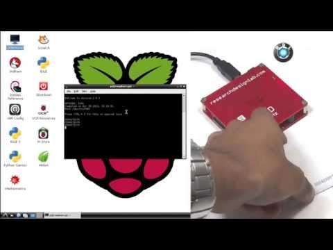 How to interface USB RFID reader With Raspberry Pi - YouTube