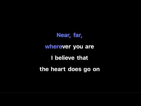 Céline Dion - My Heart Will Go On Karaoke   Key of D (-2)