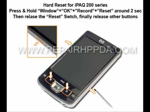 How to Soft & Hard Reset for HP iPAQ 210, 211, 212, 214, 216