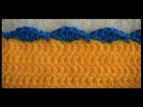 Crochet Border - Shell - Double Crochet - YouTube