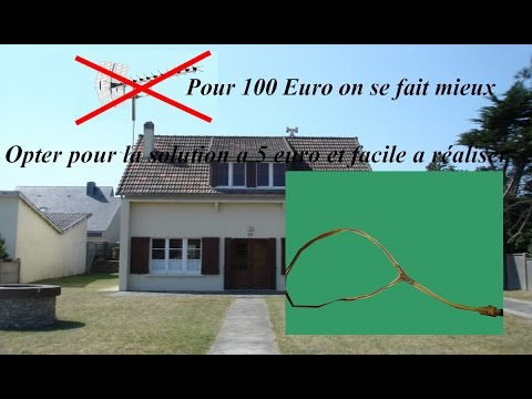 Comment faire une antenne tnt maison youtube for Antenne tnt exterieur plate