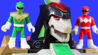 Imaginext Mighty Morphin Power Rangers Dragonzord Rescues Rangers And Fight Villains