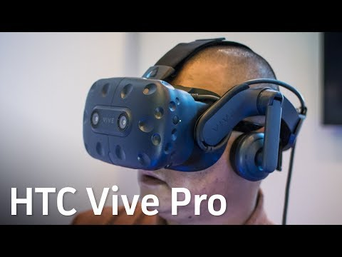Trying out the HTC Vive Pro at CES 2018