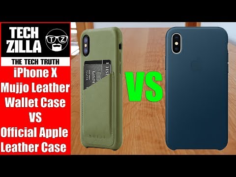 IPhone X Mujjo Leather Wallet Case VS Official Apple Leather Case