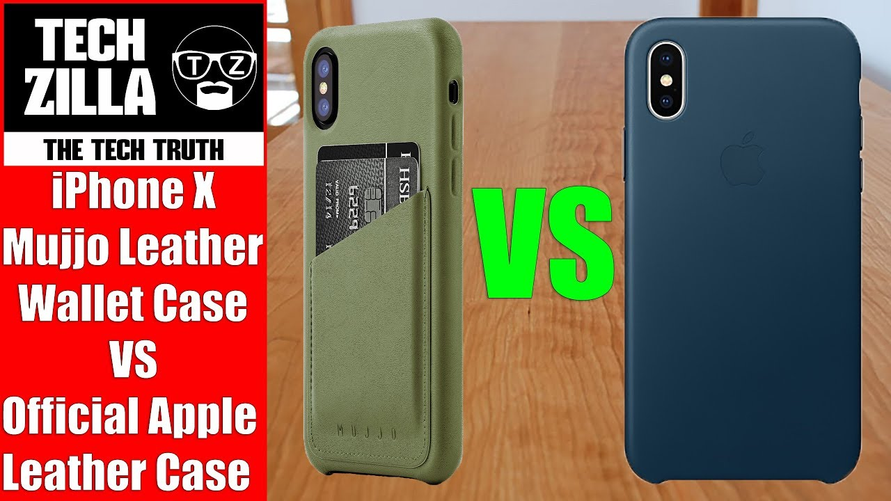 new product 0a697 d8ca5 iPhone X Mujjo Leather Wallet Case VS Official Apple Leather Case
