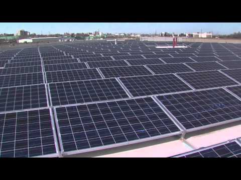 How do solar panels create electricity?